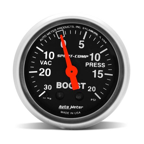 Autometer Sport Comp Vacuum Boost Gauge by Autometer
