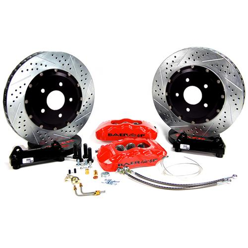 "Baer Mustang 14"" Pro Plus Front Brake System  - Red (05-14)"