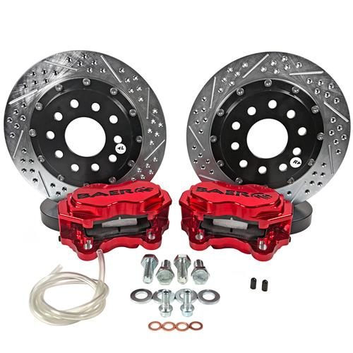 "Baer Mustang Front SS4+ Drag Race Brake System - 11.62""  - Red (15-19) 42261428R"