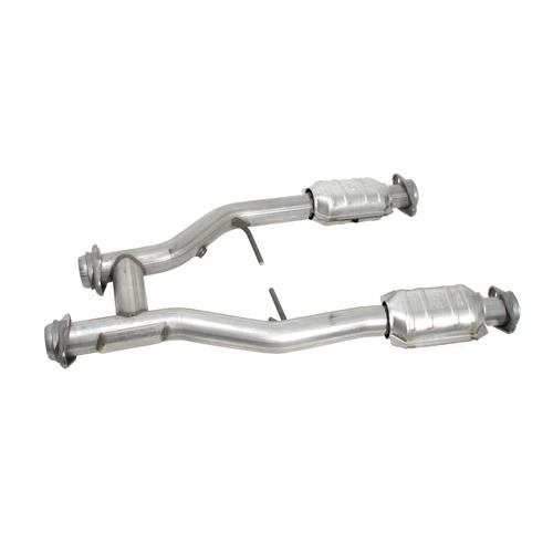 "BBK  Mustang 2.5"" Catted H-Pipe for Longtube Headers (96-04) 4.6 1538"