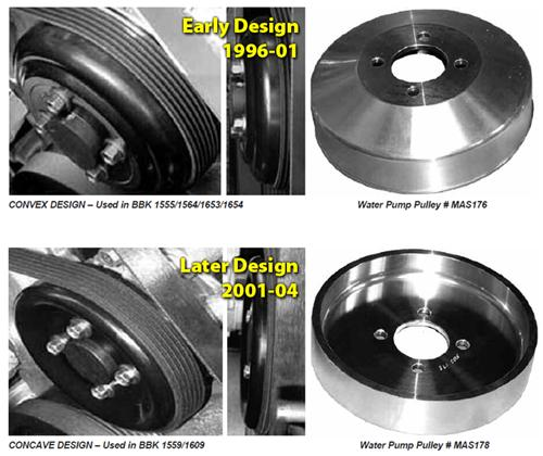 BBK  Mustang Underdrive Pulleys (Late 01-04) GT-Cobra 4.6 1559