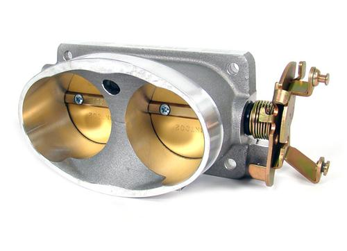 BBK  Mustang Twin 65mm Throttle Body Satin (96-01) Cobra-Mach 1 1711