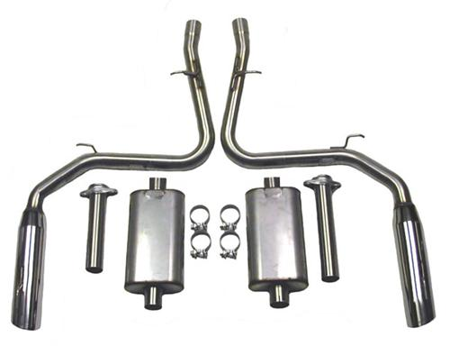 Bassani Mustang Cobra Cat-Back System Stainless (03-04) 4603C5