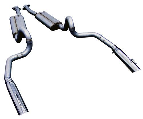 "Bassani Mustang 2.5"" Cat-Back with 3"" Tips Aluminized (86-93) LX-Cobra BX50935S"