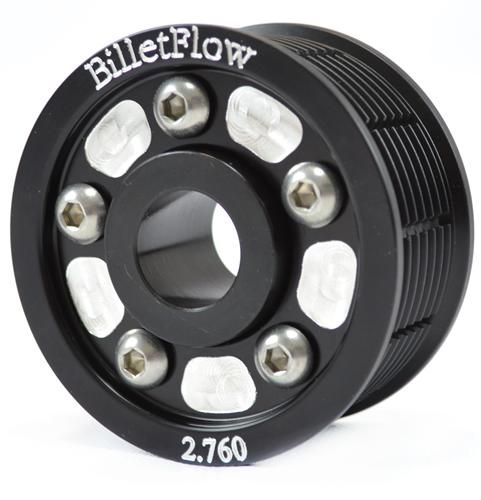 "BilletFlow Mustang  2.76"" Supercharger Pulley Kit Black (03-04) Cobra"