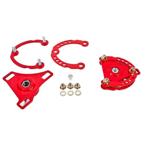 BMR Mustang Caster Camber Plates  - Red (15-17) CP001R