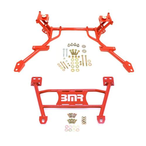 BMR Mustang Tubular K-Member & Lower Chasis Brace Kit Red (05-10) CB004R & KM010R