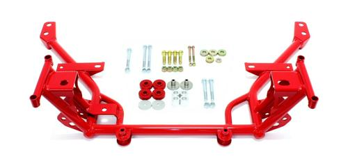 BMR Mustang Tubular K-Member - Stock Mounts Red (05-14) KM018R