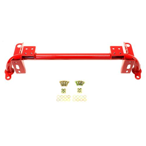 BMR Mustang Tubular Radiator Support Red (05-14) RS003R - BMR Mustang Tubular Radiator Support Red (05-14) RS003R