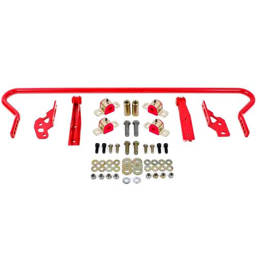 BMR Mustang Adjustable Rear Sway Bar Kit  - Red (05-14) SB042R - BMR Mustang Adjustable Rear Sway Bar Kit  - Red (05-14) SB042R