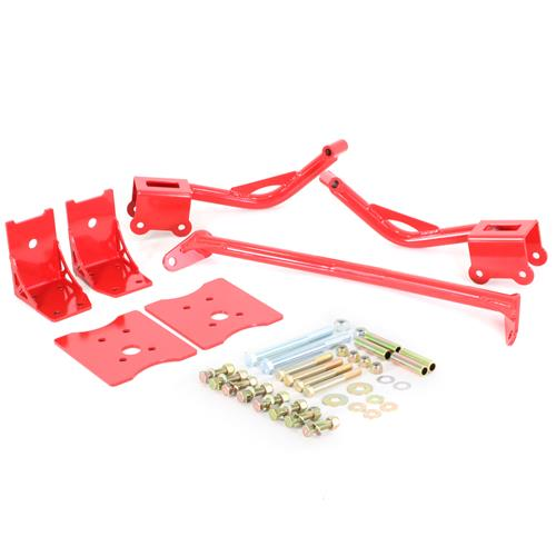 BMR Mustang Upper & Lower Torque Box Reinforcement Kit  - Red (79-04) TBR004R