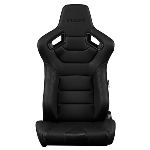 Braum Racing Elite Series Racing Seats  - Black w/ Black Stitching BRR1-BKBS