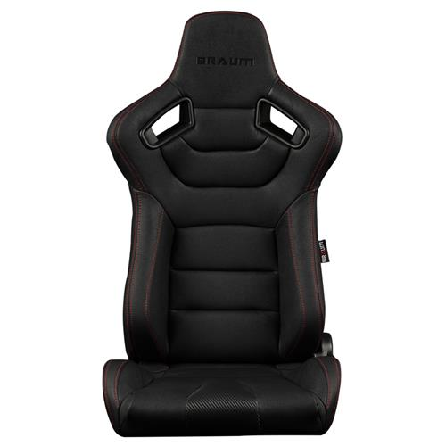 Braum Racing Elite Series Racing Seats  - Black w/ Red Stitching BRR1-BKRS