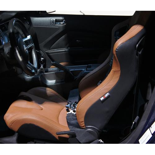 Braum Racing Elite Series Racing Seats  - Brown w/ Black Stitching BRR1-CPBS