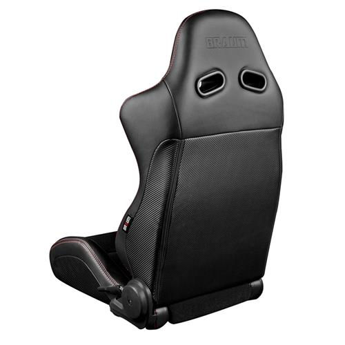Braum Racing Advan Series Racing Seats  - Black w/ Red Stitching BRR2-BKRS