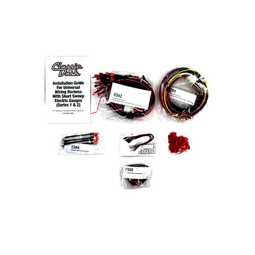 Classic Dash Mustang Wiring Harness & LED Kit For Autometer Gauges (79-04) 5200