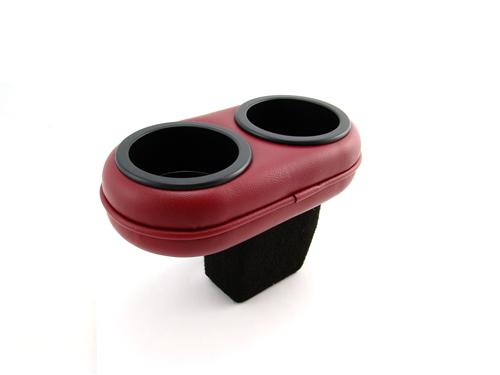 Mustang Plug And Chug Drink Holder Scarlet Red  (87-92) FMPC8797-DKRED