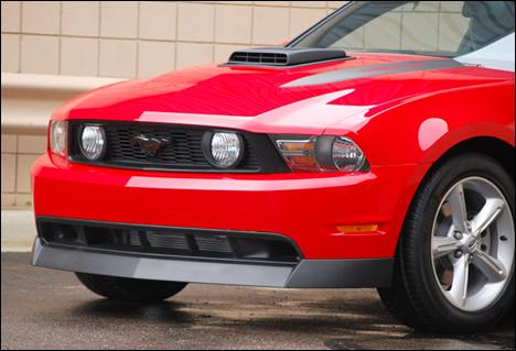 Mustang Classic Style Chin Spoiler Black Textured (10-12) 1011-7001
