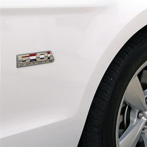 Mustang Howling Coyote 5.0 Emblem  Chrome