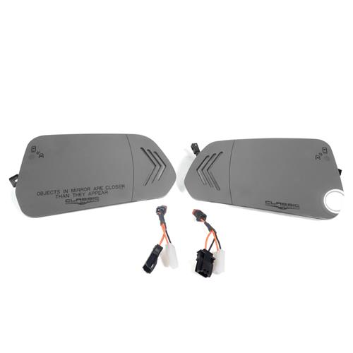 CDC Mustang Sequential Turn Signal Mirror Kit  - BLIS Indicator w/ Aspheric Glass (15-17) 1511-7053-01B