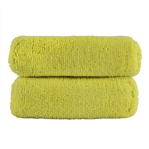 Chemical Guys Workhorse Premium Microfiber Applicator [2 pack]  - Yellow MIC29902