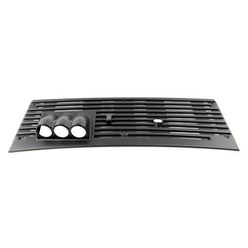 "Mustang Triple Gauge Cowl Vent Grille 2 1/16"" (83-93)"