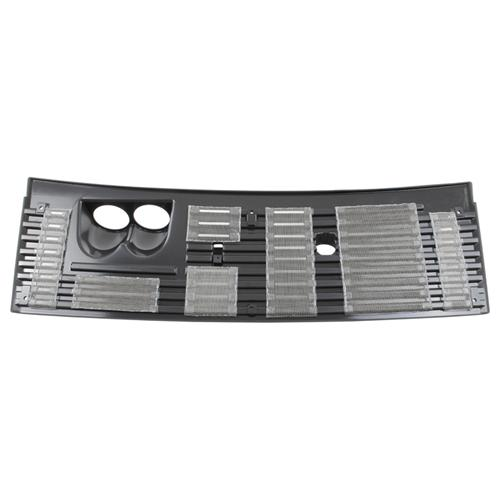 "83-93 MUSTANG 2 5/8"" 2 GAUGE COWL VENT GRILLE WITH STAINLESS GRILLE SCREEN"