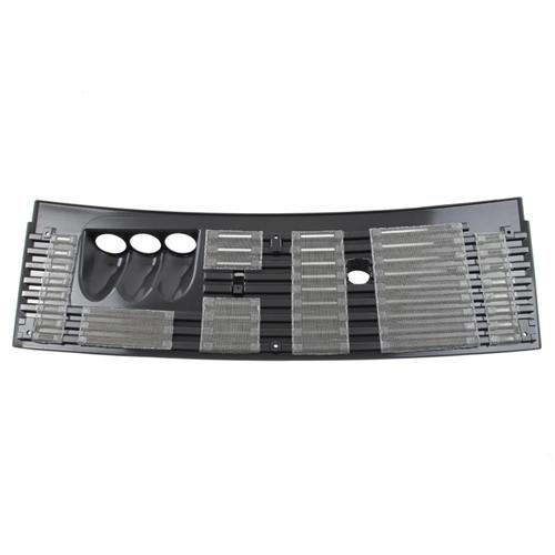 "83-93 MUSTANG 2 1/16"" 3 GAUGE COWL VENT GRILLE WITH STAINLESS SCREEN"