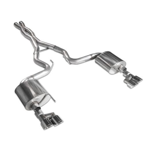 "Corsa Mustang 3"" Sport Catback - Polished Quad Tips (15-18) GT 14337"