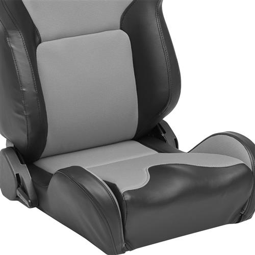 Corbeau Mustang VX2000 Seat Pair Black Vinyl/Gray Cloth Inserts 20009