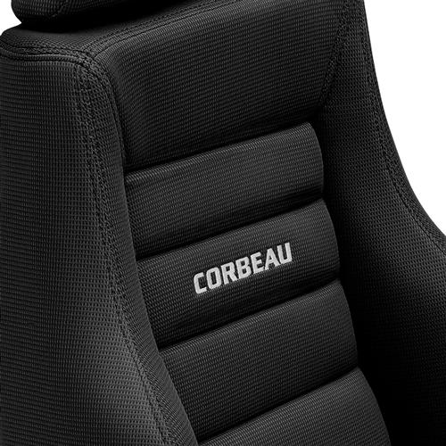 Corbeau Mustang GTS 2 Seat & Rear Upholstery Kit  - Black Cloth (79-93) Convertible