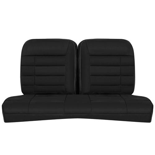 Corbeau Mustang GTS 2 Seat & Rear Upholstery Kit  - Black Microsuede (79-93) Convertible