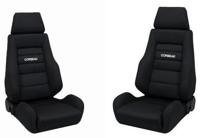 Corbeau Mustang GTS 2 Seat Pair Black Cloth 20301