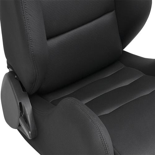 Corbeau Mustang TRS Wide Seat Pair Black Cloth 20801W