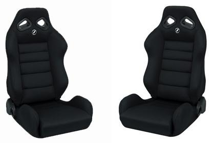 Corbeau Mustang TRS Wide Seat Pair Black Cloth