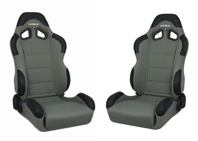 Corbeau Mustang CR1 Seat Pair Gray Cloth