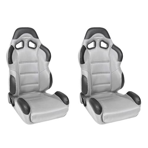 Corbeau Mustang CR1 Seat Pair Gray Cloth 20909