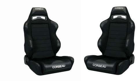 Corbeau Mustang LG1 Seat Pair Black Cloth 25501