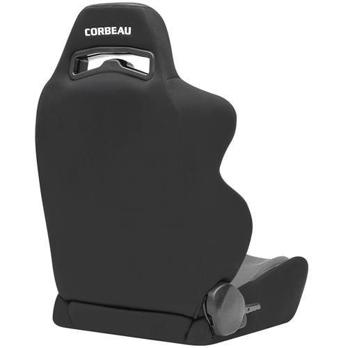 Corbeau Mustang LG1 Seat Pair Black Cloth/Gray Cloth Insert 25509