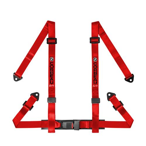 Corbeau 4 Point Snap In Harness Red 44007S