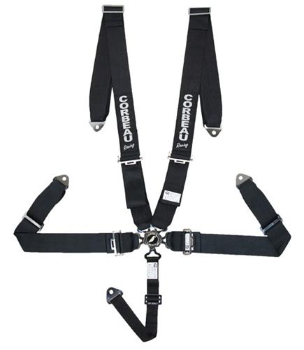 Corbeau 5 Point Camlock Harness Black SFI Approved 53001B