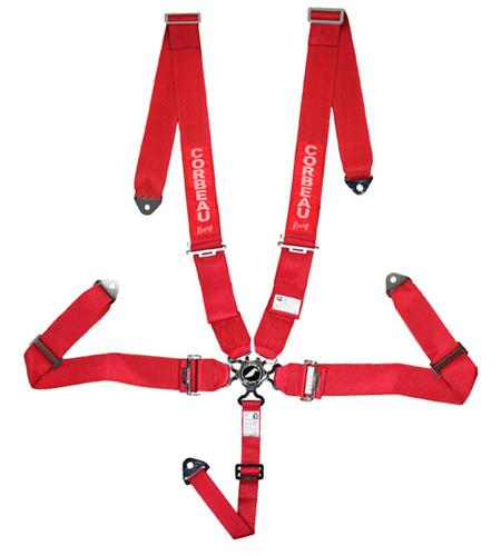Corbeau 5 Point Camlock Harness Red SFI Approved 53007B