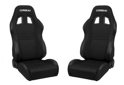 Picture of Corbeau A4 Seat Pair Black Cloth