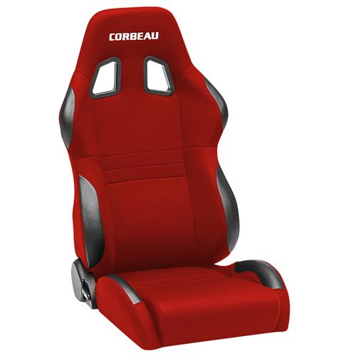 Corbeau A4 Seat Pair Red Cloth 60097PR