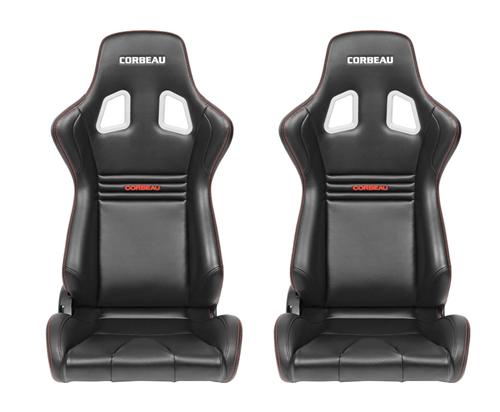 Corbeau Sportline Evolution Seat Pair, Black Vinyl/Carbon. Will fit any of our corbeau seat tracks  http://www.corbeau.com/products/reclining_seats/sportline_evolution/