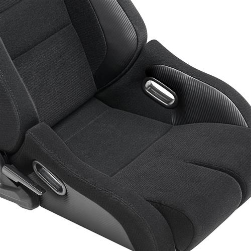 Corbeau Sportline RRB Reclining Seat Pair Black Vinyl/Cloth 84901