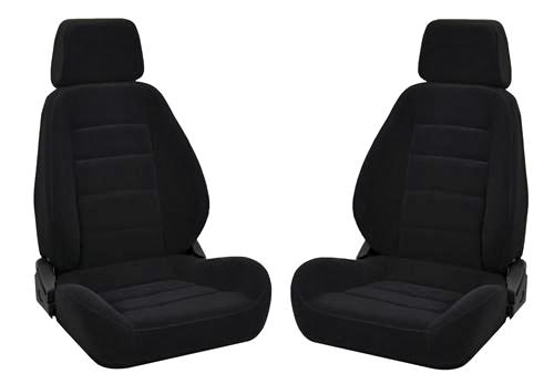 Corbeau Sport Seat Pair Black Cloth - Corbeau Sport Seat Pair Black Cloth