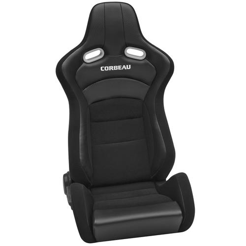 Corbeau  Sportline RRX Reclining Seat Pair - Black Cloth/Black Carbon 94901
