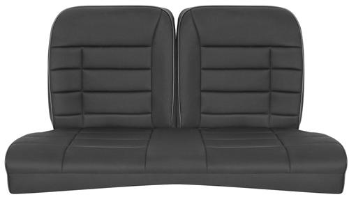 Corbeau Mustang Rear Seat Upholstery Black Cloth (79-93) Coupe FB26501CP