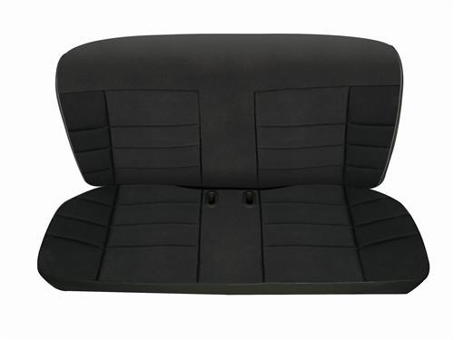 Corbeau Mustang Rear Seat Upholstery Black Cloth (83-93) Convertible FB26501CV